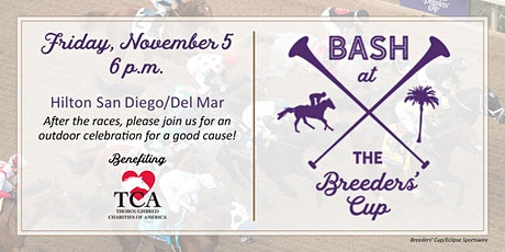 Bash at the Breeders' Cup benefiting Thoroughbred Charities of America tickets