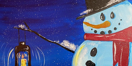 Fundraiser Paint Night in Rockland - Cozy Snowman at G.A.B.'s tickets