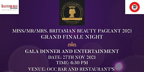 Miss/Mr/Mrs. BritAsian Beauty Pageant 2021 Grand Finale. tickets