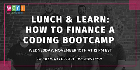 Lunch & Learn: How To Finance A Coding Bootcamp tickets