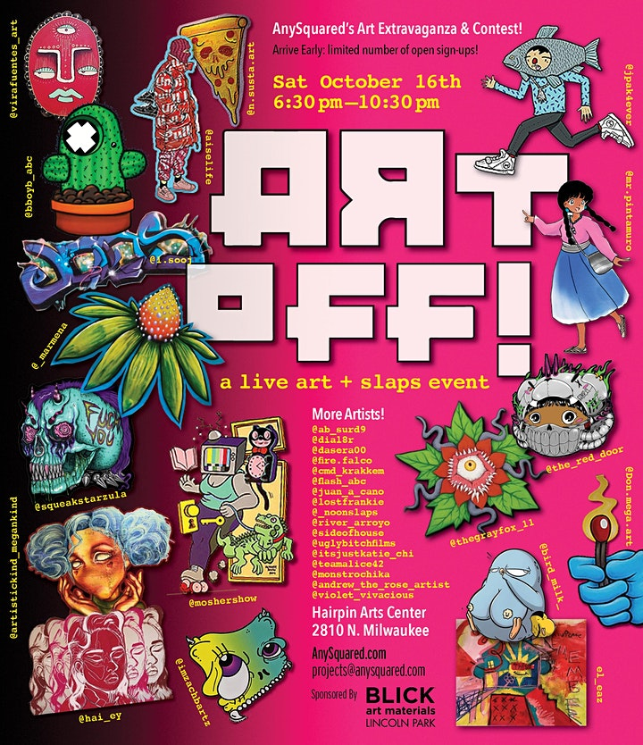 ART-OFF! a live art + slaps event image