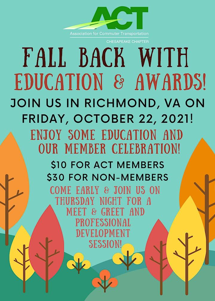 ACT Chesapeake Chapter Richmond Event 2021 image