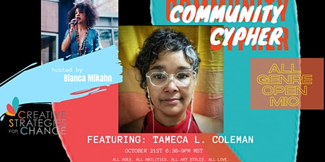 October Community Cypher Open Mic tickets