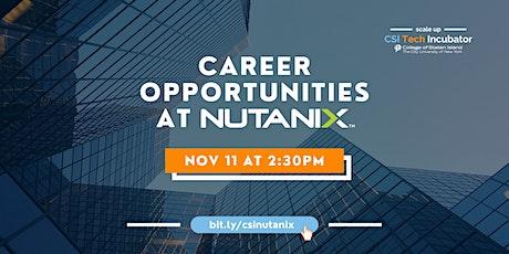 Career Opportunities at Nutanix tickets