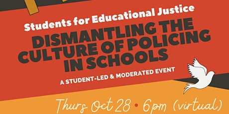 Dismantling the Culture of Policing in Schools tickets