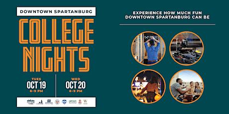 Downtown Spartanburg College Nights tickets