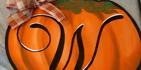 Pumpkin Door Hanger Sip 'n Paint tickets