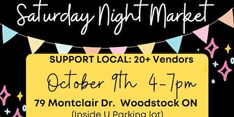 Saturday Night Market tickets