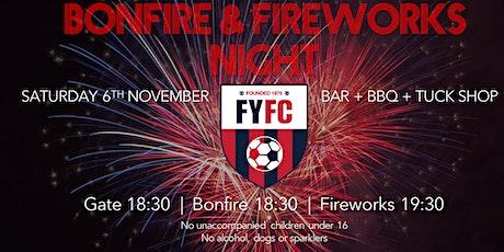 FYFC Bonfire & Fireworks Night tickets