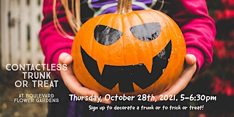 Contact-less Trunk or Treat at Boulevard Flower Gardens tickets