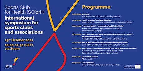Sports Club for Health (SCforH) international symposium tickets