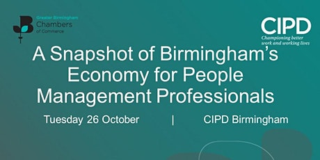 A snapshot of Birmingham's Economy for People Management Professionals tickets