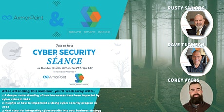 Webinar: Cybersecurity Séance - A review of 2021 and Predictions for 2022 tickets