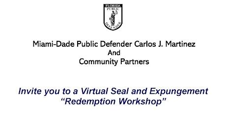 """""""Redemption' Sealing & Expungement Workshop tickets"""