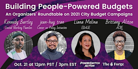 Building People-Powered Budgets: An Organizers' Roundtable tickets