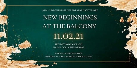 New Beginnings at The Balcony tickets