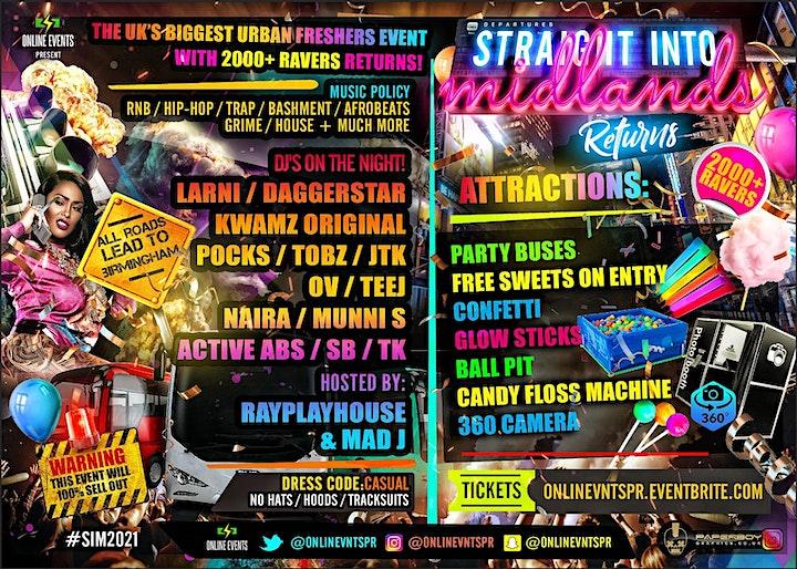 STRAIGHT INTO MIDLANDS - Midlands Biggest Urban Freshers Event image