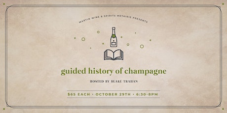 Guided History of Champagne: Friday Class tickets