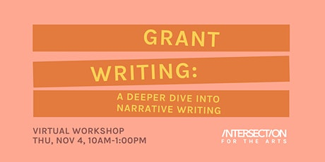 Grant Writing: A Deeper Dive into Narrative Writing tickets