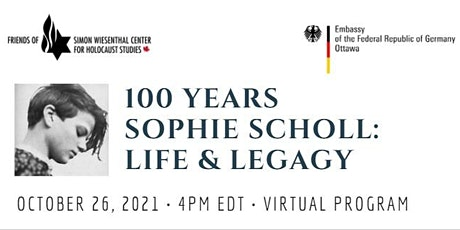 100 Years Sophie Scholl: Life & Legacy tickets