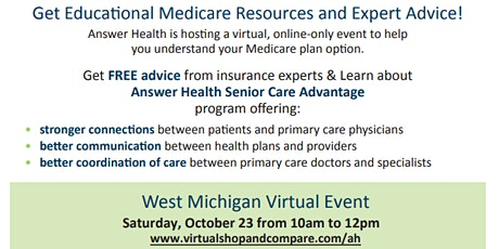Free Virtual Medicare Insurance Event. Everything you need to know! tickets