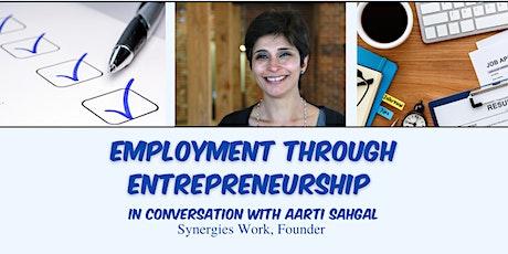 Employment through Entrepreneurship tickets