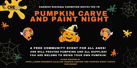 CRE Pumpkin Carving and Painting Night! tickets