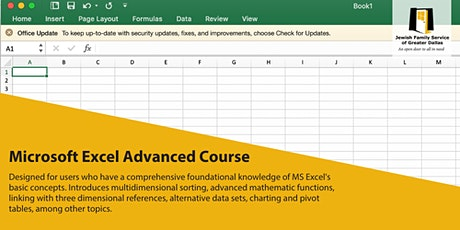 Microsoft Excel 5 Day Advanced Course tickets