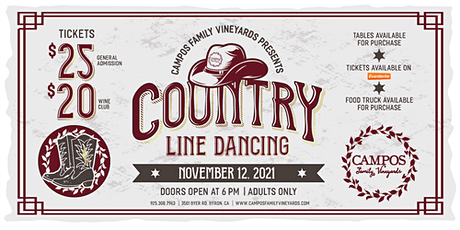 Country Line Dancing at Campos Family Vineyards tickets