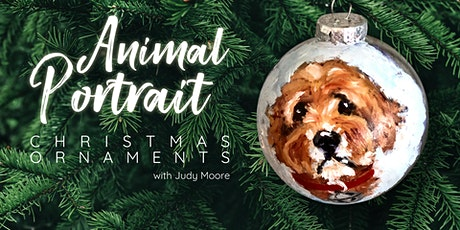 Animal Portrait Christmas Ornaments with Judy Moore tickets