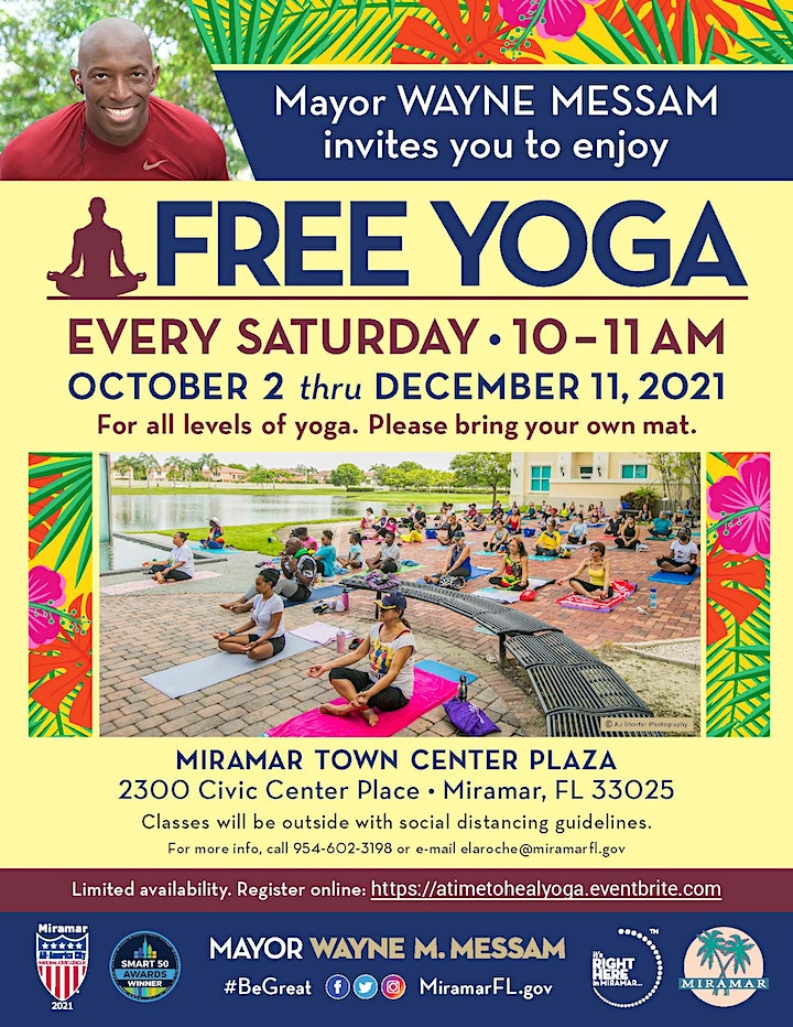 A Time To Heal  - FREE Yoga Saturdays hosted by Mayor Messam image