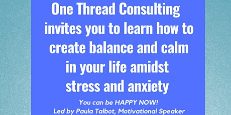 Learn New Skills To Manage Stress & Anxiety tickets