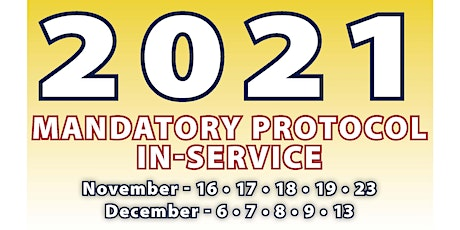 2021 Mandatory Protocol In-Service tickets