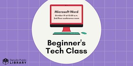 Beginner's Technology Class: tickets