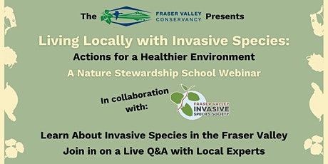 Living Locally with Invasive Species: Actions for a Healthier Environment tickets