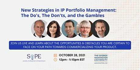New Strategies in IP Portfolio Management- The Do's, Don'ts, and Gambles tickets