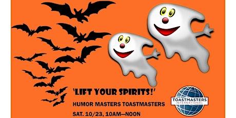 Humor Masters  Toastmasters October 23 Meeting tickets