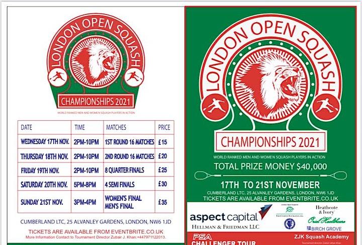 London open squash 2021 image