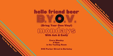Bring Your Own Vinyl Mondays with Ash & Emily tickets