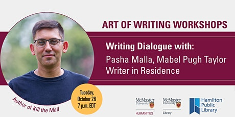 Writing Dialogue with Pasha Malla tickets