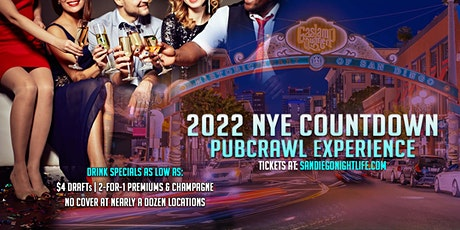 San Diego Pub Crawl New Year's Eve Party tickets