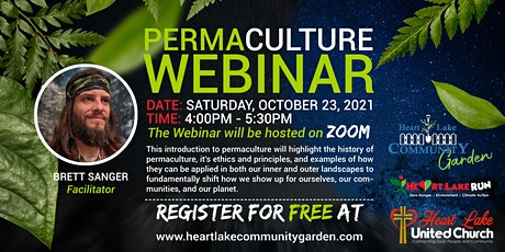 PERMACULTURE WEBINAR tickets
