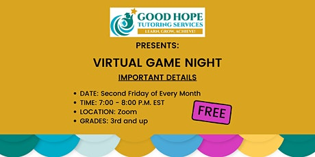 Monthly Virtual Game Nights for Children tickets