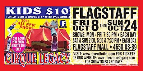 Saturday October 16 Cirque Legacy in Flagstaff, AZ tickets