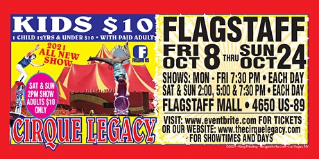 Sunday October 17 Cirque Legacy in Flagstaff, AZ tickets