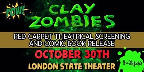Clay Zombies Theatrical Screening, Meet Diane Franklin! Comic Debut! tickets