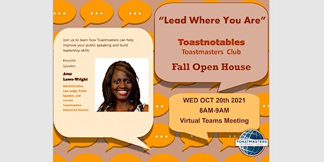 Toastnotables Fall Open House Tickets