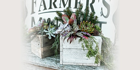 In-Person Winter Barnwood Succulent Box Workshop at Chateau Bu-De Winery tickets