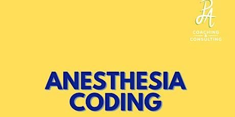 Anesthesia  Coding Review Session entradas