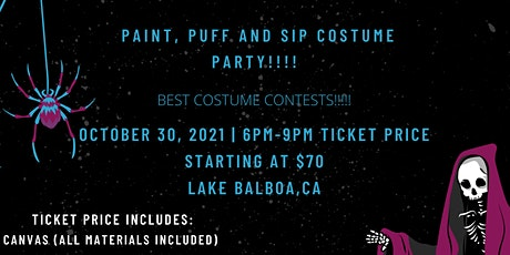 Spooky Saturday Night, Paint Puff and Sip tickets